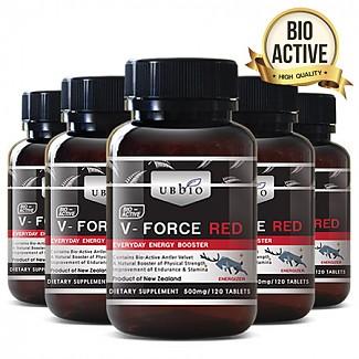 [유비바이오]V-Force 브이포스 레드(녹용,녹혈) 500mg 120tab 6개
