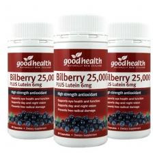 [굿헬스] 빌베리(눈건강) 25000+ 루테인 60캡슐 3개 (눈건강)