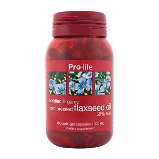 [프로라이프] 플랙씨드 오일(아마씨오일) 100캡슐 1개 //식물성오메가3