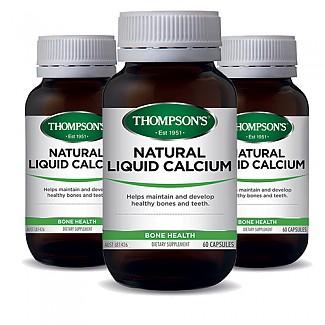 [톰슨] 리퀴드(액상) 칼슘 60캡슐 3개