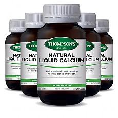 [톰슨] 리퀴드(액상) 칼슘 60캡슐 6개