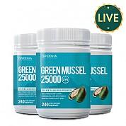 [그리니아] 그린머슬25000 240캡슐 (100% 뉴질랜드 라이브 초록입홍합) 3개