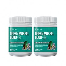 [그리니아] 그린머슬 6000 / 100% 뉴질랜드 초록입홍합 240 캡슐 2개