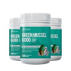 [그리니아] 그린머슬 6000 / 100% 뉴질랜드 초록입홍합 240 캡슐 3개