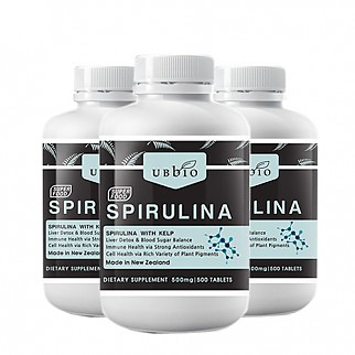 [유비바이오] 스피루리나 (피부건강/항산화/면역력증진) 500tab  3개