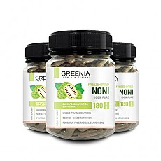 *신제품 특가* [그리니아] 쿡아일랜드 동결건조 유기농 100%노니 180캡슐 3